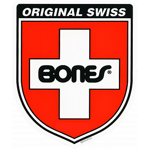 Bones Bearings Swiss Shield Ramp Sticker Single 15.75'