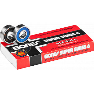 Bones® Super Swiss 6 Skateboard Bearings 8 pack