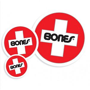 Bones® Bearings Swiss Round Md Sticker (20 pack)