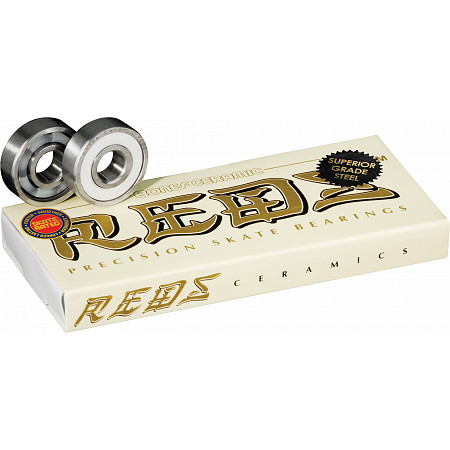 Bones Skateboard Bearings Ceramic Reds 8pk New