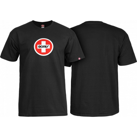 Bones® Bearings Swiss Circle T-Shirt - Black